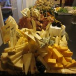 A selection of cheeses to go with the wines (or beer)!